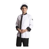 7800 Model Aşçı ceketi Dry touch-Beyaz-Siyah