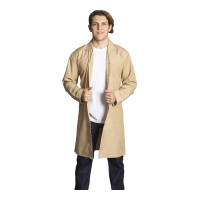 Long sleeve work topcoat-Beige