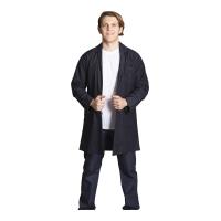 Long sleeve work topcoat-Navy blue