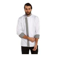7800 Model Aşçı ceketi Dry touch-Beyaz-Gri
