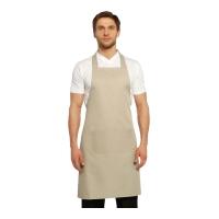 Boyundan Askılı Mutfak Önlüğü-Krem