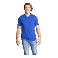 V Yaka T-Shirt-Sax Mavi