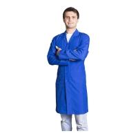 Long sleeve work topcoat-Sax Blue