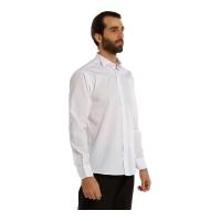 Uzun Kollu Klasik Gömlek-Beyaz