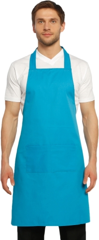 Halter- top kitchen apron-Blue