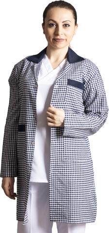 Long sleeve zephyr work jacket-Navy blue