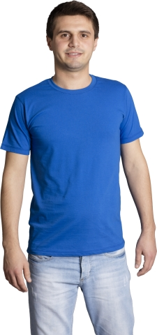Crew neck t-shirt-Navy blue