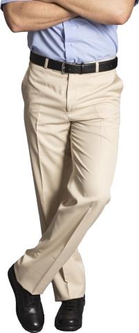 Klasik Erkek  Pantolon Yazlık-Krem