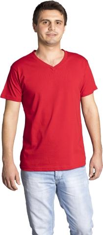 V neck t-shirt-Red