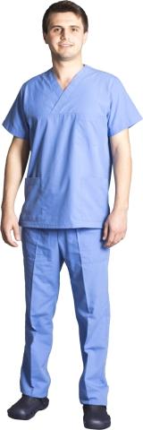 V neck nurse suit-Blue