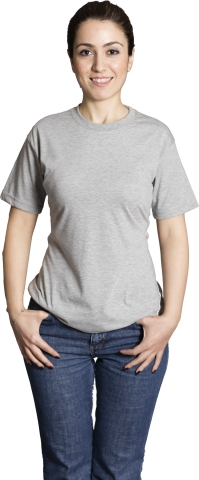 Crew neck t-shirt-Grey