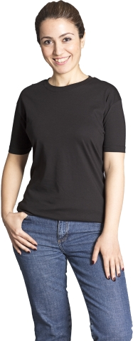 Crew neck t-shirt-Black