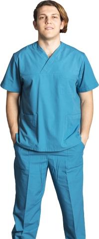 V neck nurse suit-Water Green