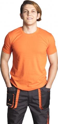 Crew neck t-shirt-Orange
