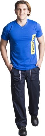 V neck t-shirt-Blue
