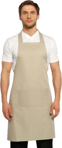 Halter- top kitchen apron-Cream