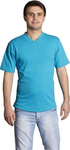 V neck t-shirt-Turquoise