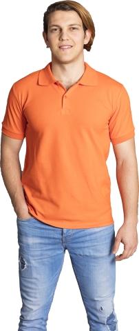 Polo neck t-shirt-Orange