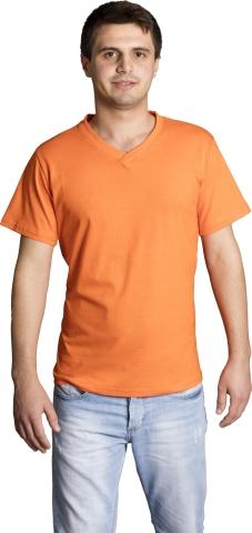 V neck t-shirt-Orange