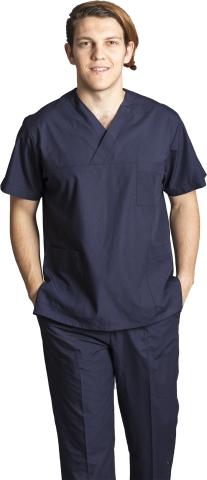 V neck nurse suit-Navy blue