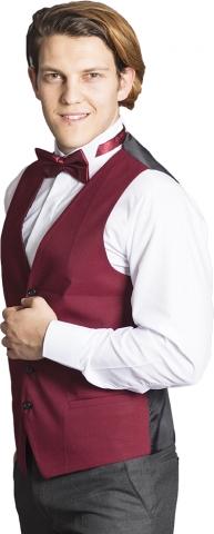 Waiter waistcoat-Claret Red