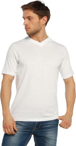 V neck t-shirt-White