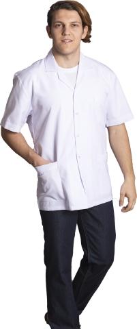 Kısa Kollu Bay İş Ceketi-Beyaz