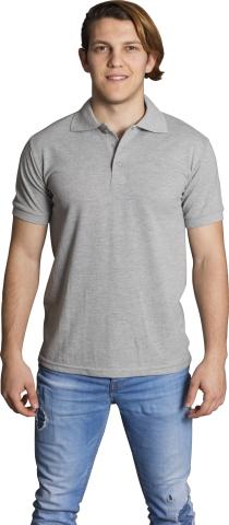 Polo neck t-shirt-Grey
