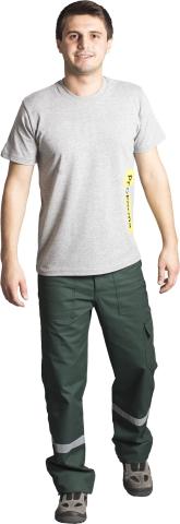 V neck t-shirt-Grey