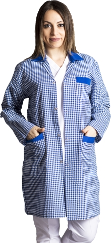 Long sleeve zephyr work jacket-Sax Blue