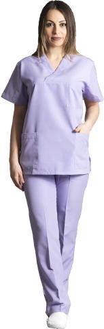 V neck nurse suit-Indigo