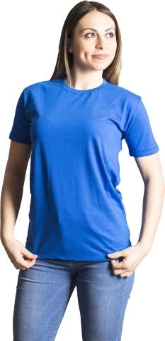Crew neck t-shirt-Blue