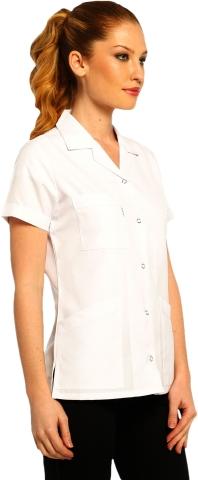 Kısa Kollu Bayan İş Ceketi-Beyaz