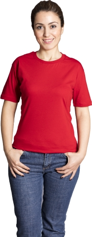 Crew neck t-shirt-Red